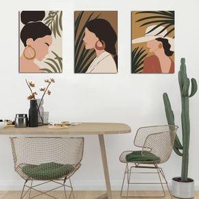 kit quadro mdf decorativo mulheres