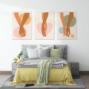 kit quadros para quarto de casal