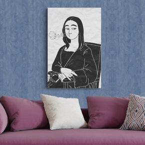 quadro decorativo canvas desenho mona lisa