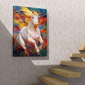 quadro decorativo ilustracao cavalo