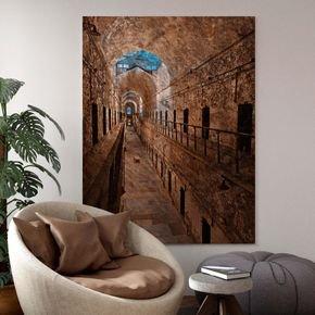 quadro canvas tunel abandonado