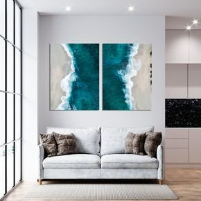 conjunto quadros mar