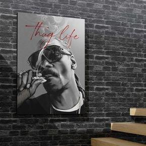 quadro canvas decorativo snoop dog thug life