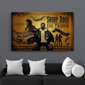 quadro decoraivo snoop god