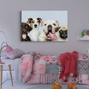 quadro decorativo caretas de cachorros