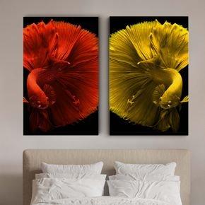 quadro canvas casal de peixe