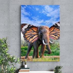 quadro decorativo canvas elefante vinil adesivo de parede