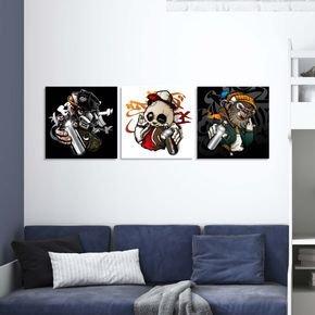 quadros macacos artistas