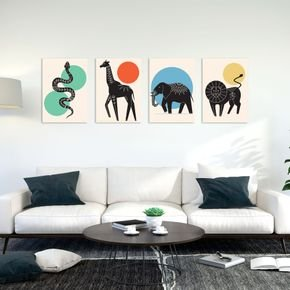 kit animais abstratos