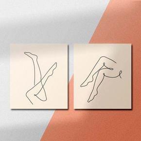 abstrato pernas