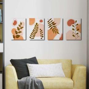 quatro abstratos folhagens