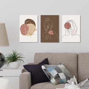 brown abstract womans