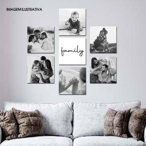 conjunto quadros mdf fotografia familia