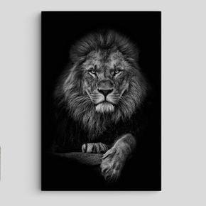 leao preto e branco