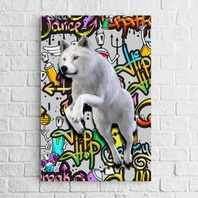 quadro lobo grafitte