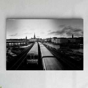 metro preto e branco