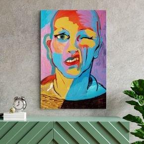 pintura abstrata de rosto