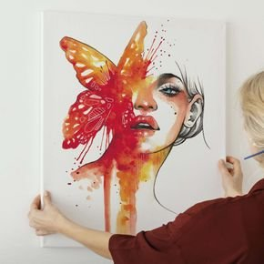 mulher borboleta
