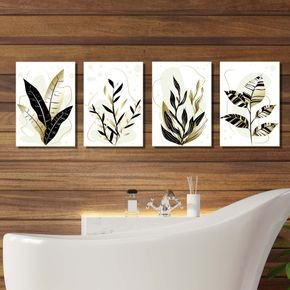 folhas pretas e douradas