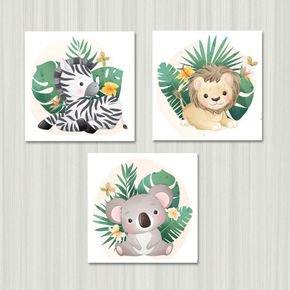 animais na floreta