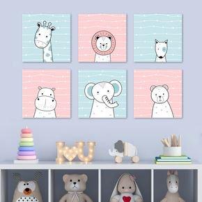 conjunto 06 quadrinhos animais
