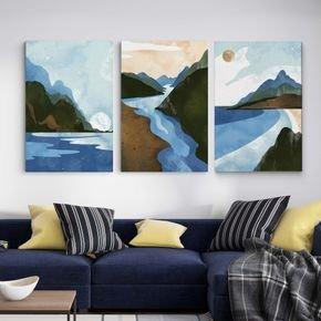 rio e montanhas