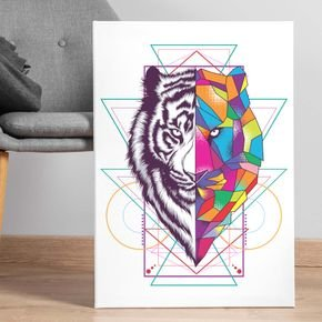 lion abstract art