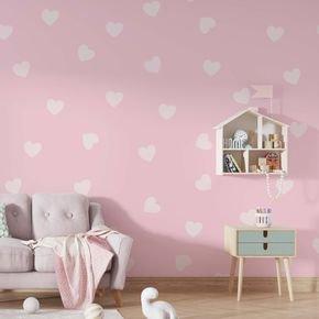 vinil adesivo coracoes rosa