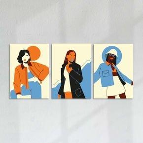 trio de quadros woman style